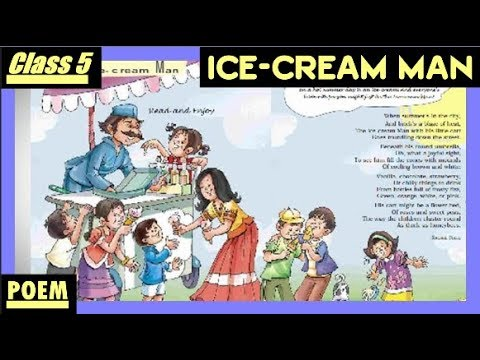 Ice-Cream Man    class 5 poem Unit 1    Marigold book    Hindi explanation