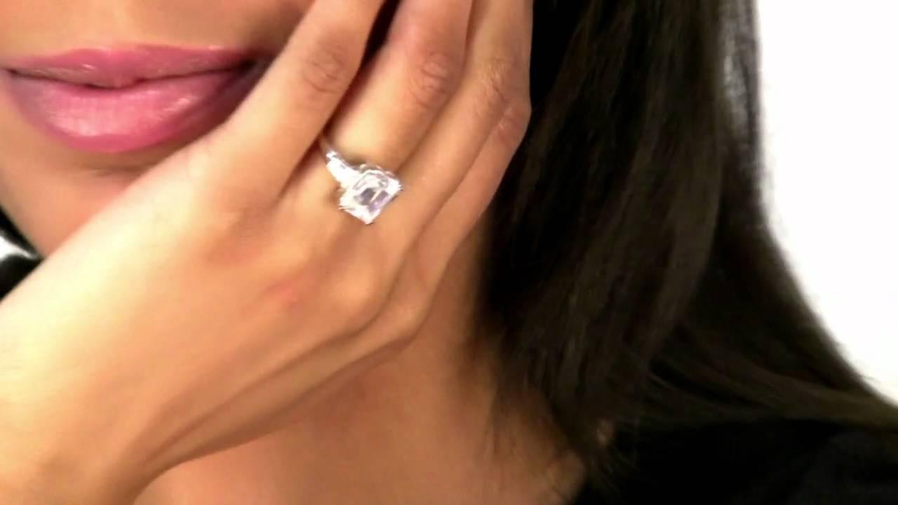 CZ Engagement Ring - Y... Eva Longoria Wedding