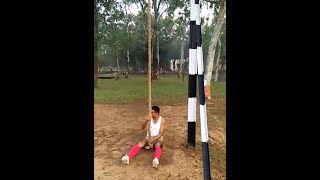 First class vertical roap demo by pt ustad|  CISF| demo|Pt|  training| stamina build up|