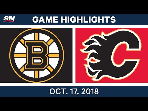 NHL Highlights | Bruins vs. Flames - Oct. 17, 2018