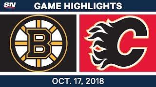 NHL Highlights   Bruins vs. Flames - Oct. 17, 2018