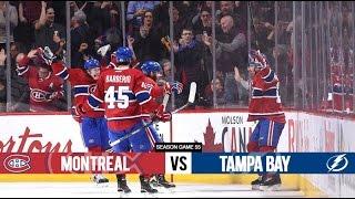 Montreal Canadiens vs Tampa Bay Lightning - Season Game 55 - All Goals (9/2/16)
