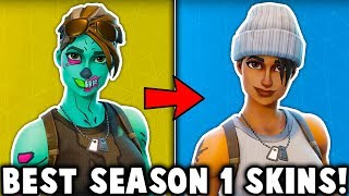 5 BEST SEASON 1 SKINS in Fortnite! (these og skins are amazing)