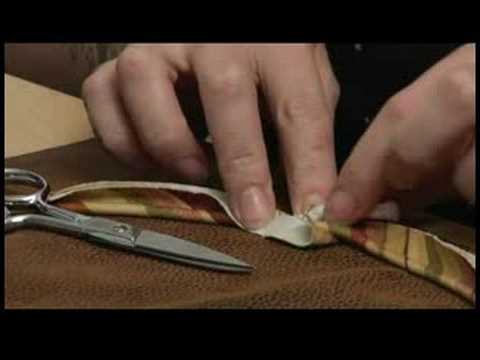 Sewing a Round Pillow With Piping : Connect Piping For a Round Pillow