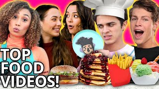 Ultimate FOOD MARATHON - BEST COOKING CHALLENGE VIDEOS w/ Merrell Twins, Brent Rivera, & MORE!