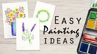 3 Easy Nature Inspired Watercolor Paintings: Real Time Tutorial