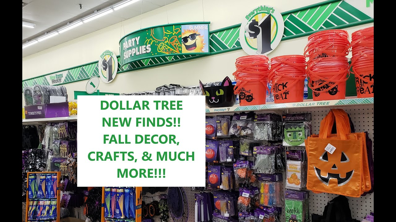 DOLLAR TREE NEW FINDS! FALL DECOR, CRAFTS, HALLOWEEN, BACK TO SCHOOL & MUCH MORE! SHOP WITH ME!