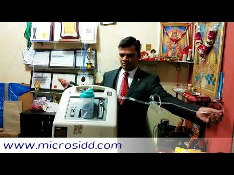 How To Install And Use Oxygen Concentrator Medical Equipment Demo At Microsidd India