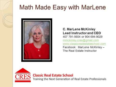 REAL ESTATE MATH - Equity in Property