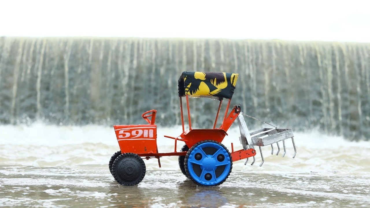 Mini HMT Tractor 5911 And Ford 3610 Tractor Field Work | Plowing the Field | CS Toy