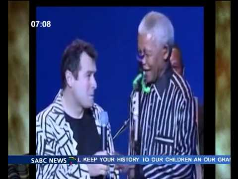 "Mandela dancing to ""Asimbonanga"" by  Johnny Clegg & Savuka"