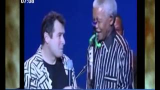 "Mandela dancing to ""Asimbonanga"" by  Johnny Clegg & Savuka"