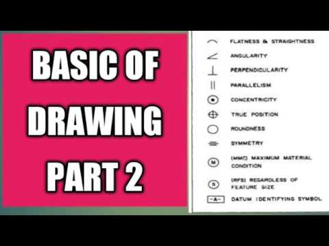BASIC OF ENGINEERING DRAWING SYMBOL PART-2