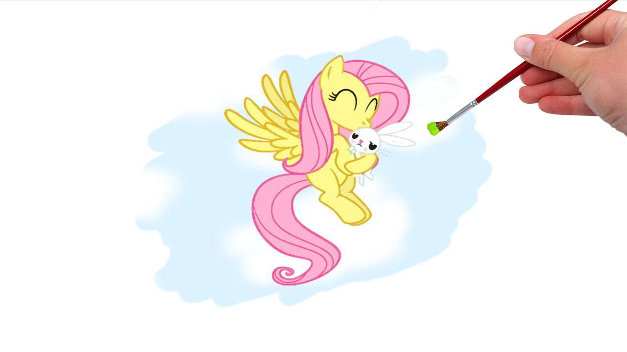 My Little Pony Friendship Is Magic Coloring Pages Fluttershy : Coloring book : my little pony fluttershy and angel game youtube