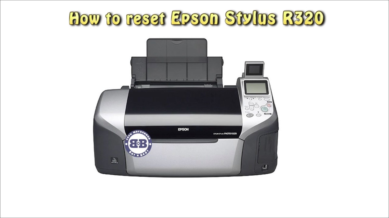 Reset Epson R320 Waste Ink Pad Counter