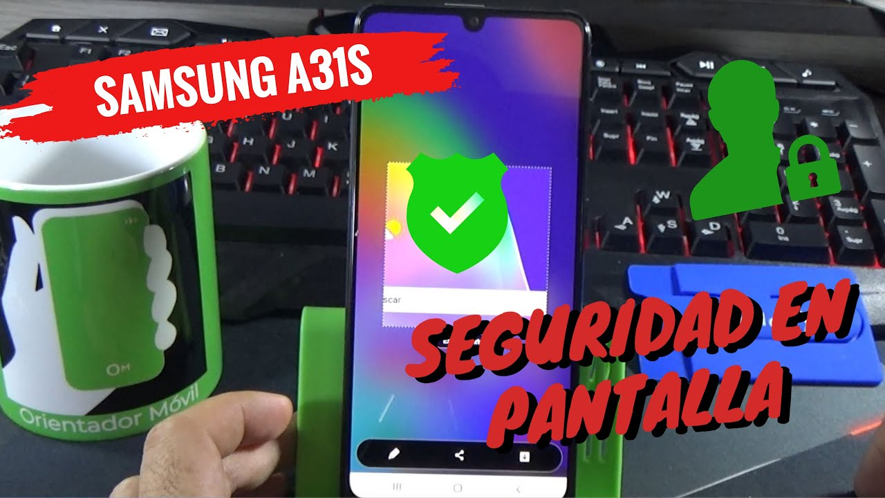 SAMSUNG A31S  👍   Como  Activar la Seguridad En Pantalla /Pin / Contraseña/ o Facial HD 🔐 🤗