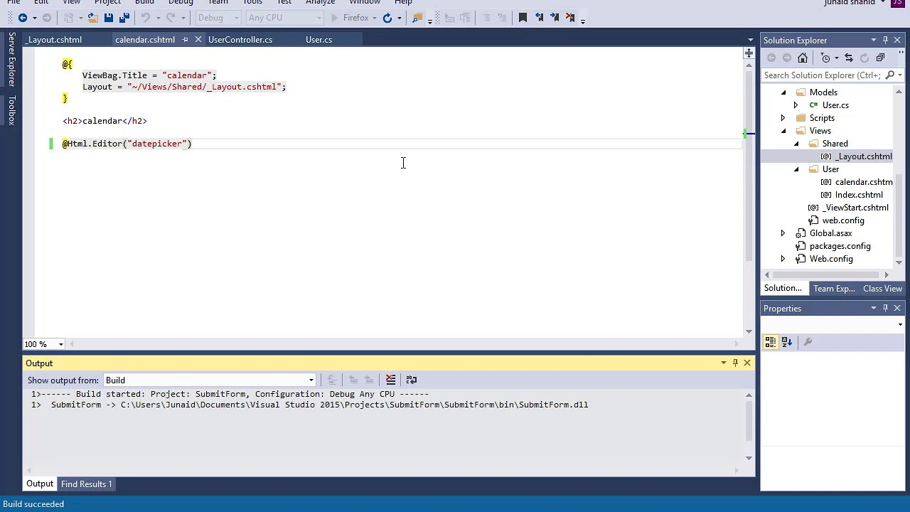 visual studio install bootstrap datepicker