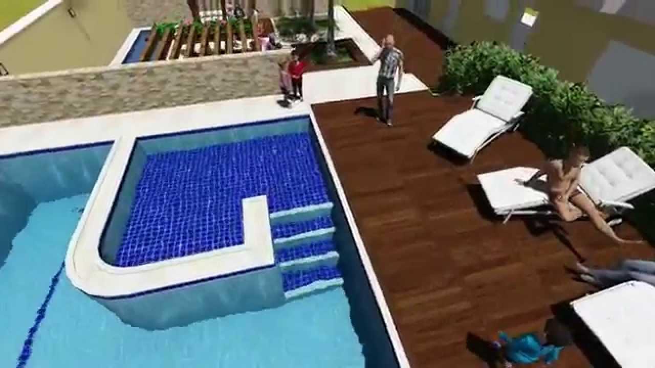 Projeto de piscina em concreto armado 19882 youtube - Cemento para piscinas ...
