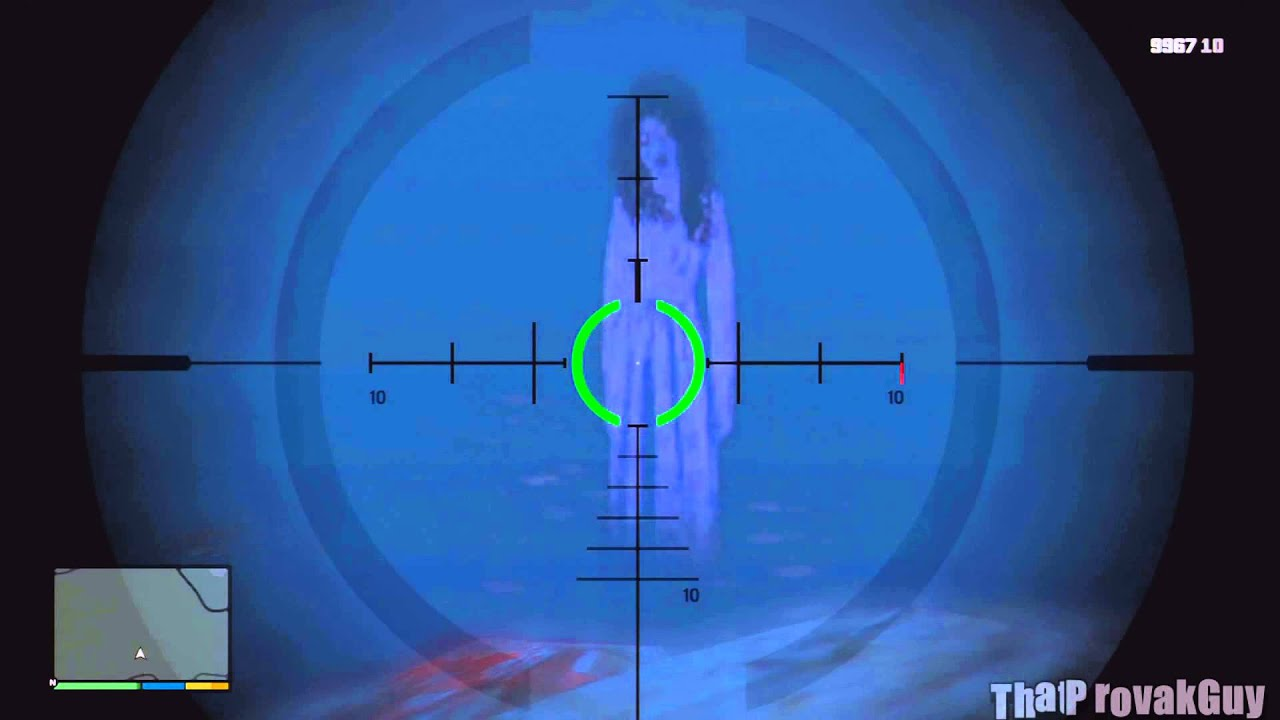 Grand Theft Auto 5 - Ghost Girl Easter Egg - YouTube