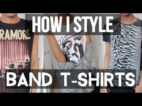 HOW I STYLE BAND T-SHIRTS | mjsmode