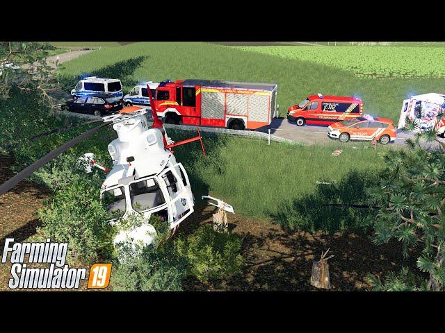 LS19 - Hubschrauber Absturz! Großalarm für Feuerwehr & Polizei! [Feuerwehr Einsatz Woche 7/7]