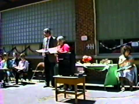 6th grade graduation ceremony- 1990- Brecknock Elementary School