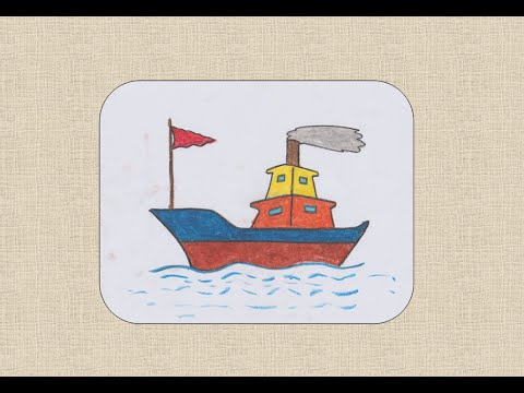 How to draw Boat for k...
