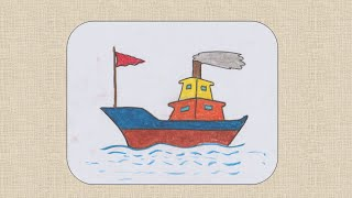 How to draw Boat for kids