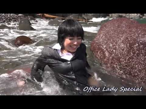 WETLOOK : Sea bathing with muddy suit