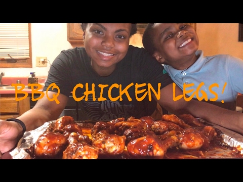 How long to bake bbq chicken legs and thighs