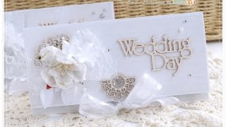 Wedding Envelope Style Card Tutorial Shabby Chic  - Lady E - * Emilia Sieradzan *