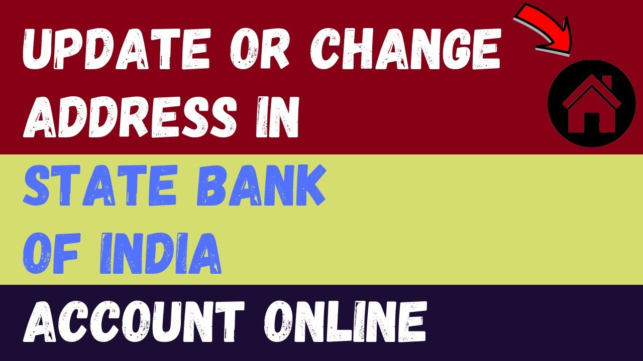 how to change my address in sbi bank online