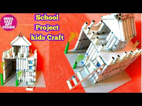 School Project for kids |thread spool craft |Cool craft idea |Best out of waste mima easy art design