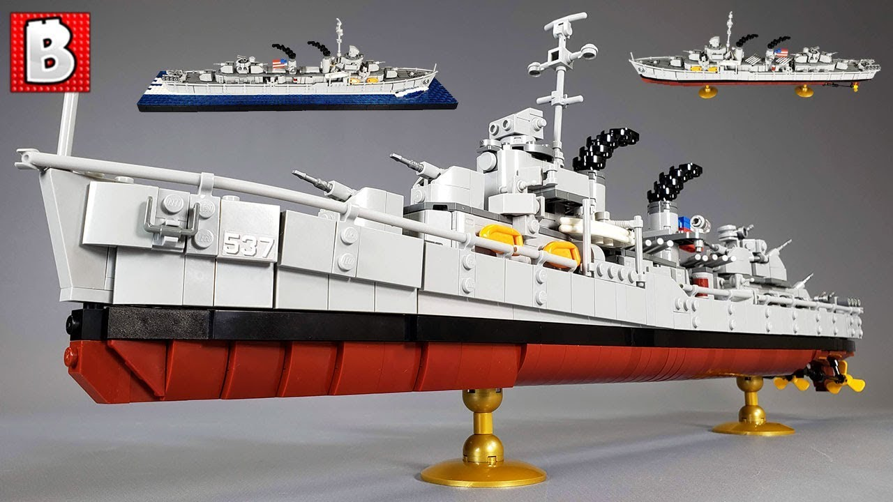 Super Detailed Lego Uss Fletcher Destroyer 1 200th Scale Youtube