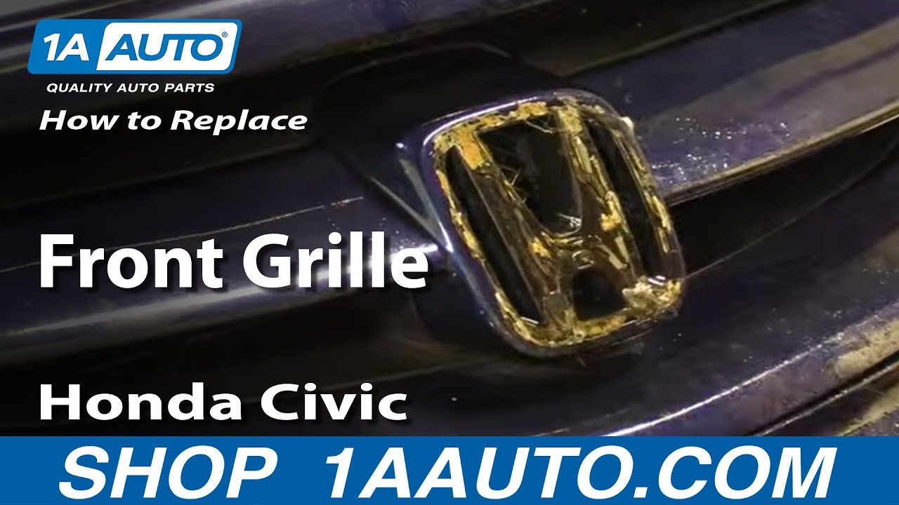 Honda Civic Pilot >> How to Install Replace Front Grille 2003 Honda Civic - YouTube