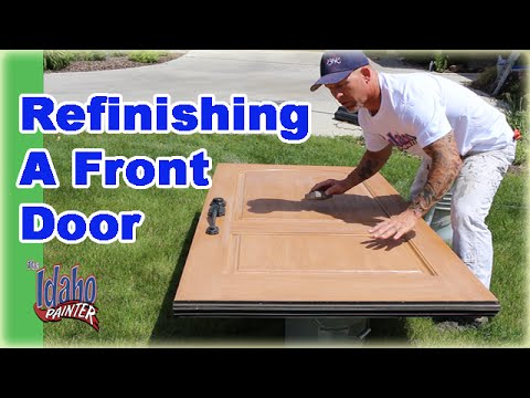 Refinishing A Front Door.  Clear Coating A Door With Urethane.