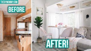 RV RENOVATION Before & After Vintage Glam Makeover!