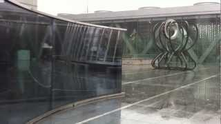 Artworks in the rain at Museum of Contemporary Art Tokyo KIYOSUMI-SHIRAKAWA,TOKYO,JAPAN