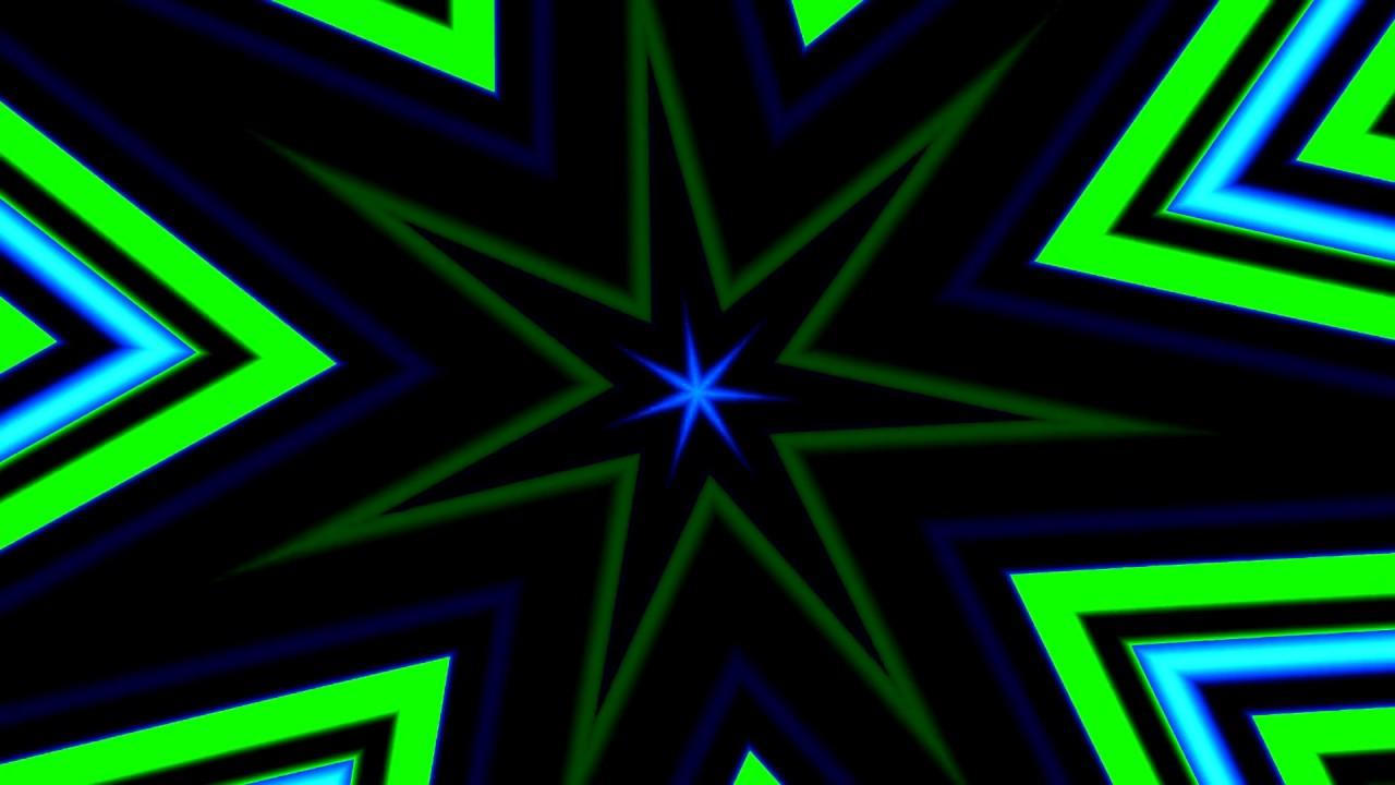 Stars Tunnel Neon HD - VJ Visual Loop Video Background Free