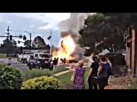 Caught on camera: Oxygen tanks cause car explosion in Colorado Springs