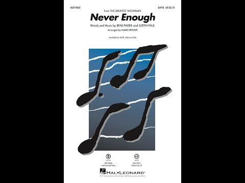 Never Enough From The Greatest Showman Satb Choir Arranged By Mark Brymer