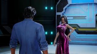 Jump Force Ryo Saeba Flirts With Hancock & Galena