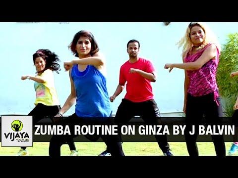 Zumba Routine On Ginza Song By J Balvin | Zumba Dance Fitness | Choreographed By Vijaya Tupurani