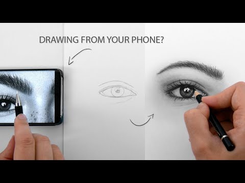 DRAWING FROM YOUR PHONE? EYE SKETCH thumbnail