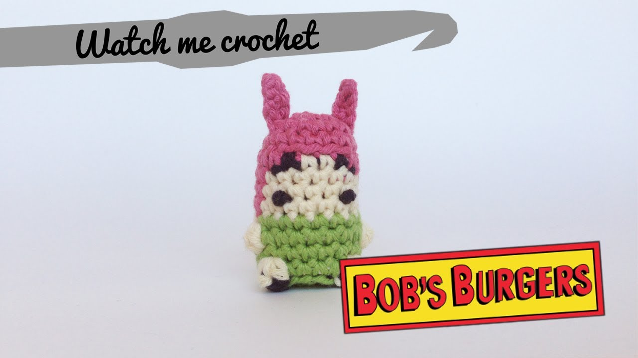 Louise from Bob s Burgers - Watch me Crochet - YouTube 1a8d1044b44