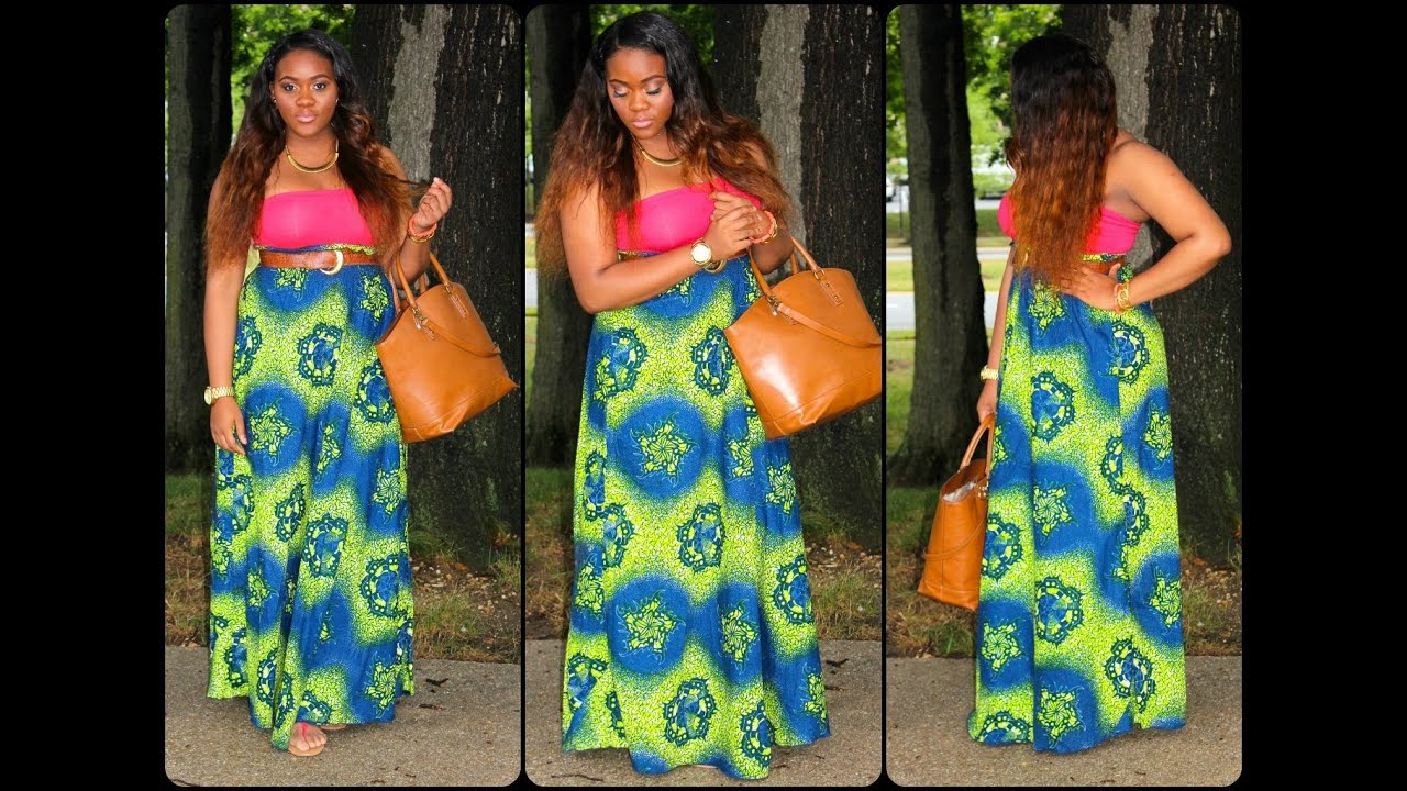 ootd red bustier top and another printed ankara maxi