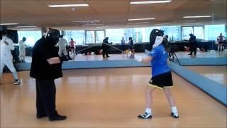 Clase práctica de esgrima deportiva Vincenzo Cherubino