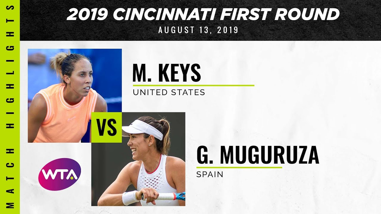 Madison Keys vs. Garbiñe Muguruza | 2019 Western & Southern Open Second Round | WTA Highlights