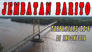 Pemandangan Jembatan Barito dari Langit    Aerial View (1/8/2020)