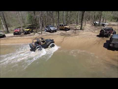 Trail Riding to the Waterloo Waterfall with the Quad Cities Swampers Jeep Club